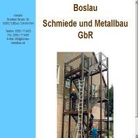 Matallbau Boslau aus Cottbus alte Seite